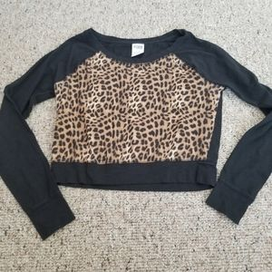 PINK Victoria's Secret Leopard Crop Top small